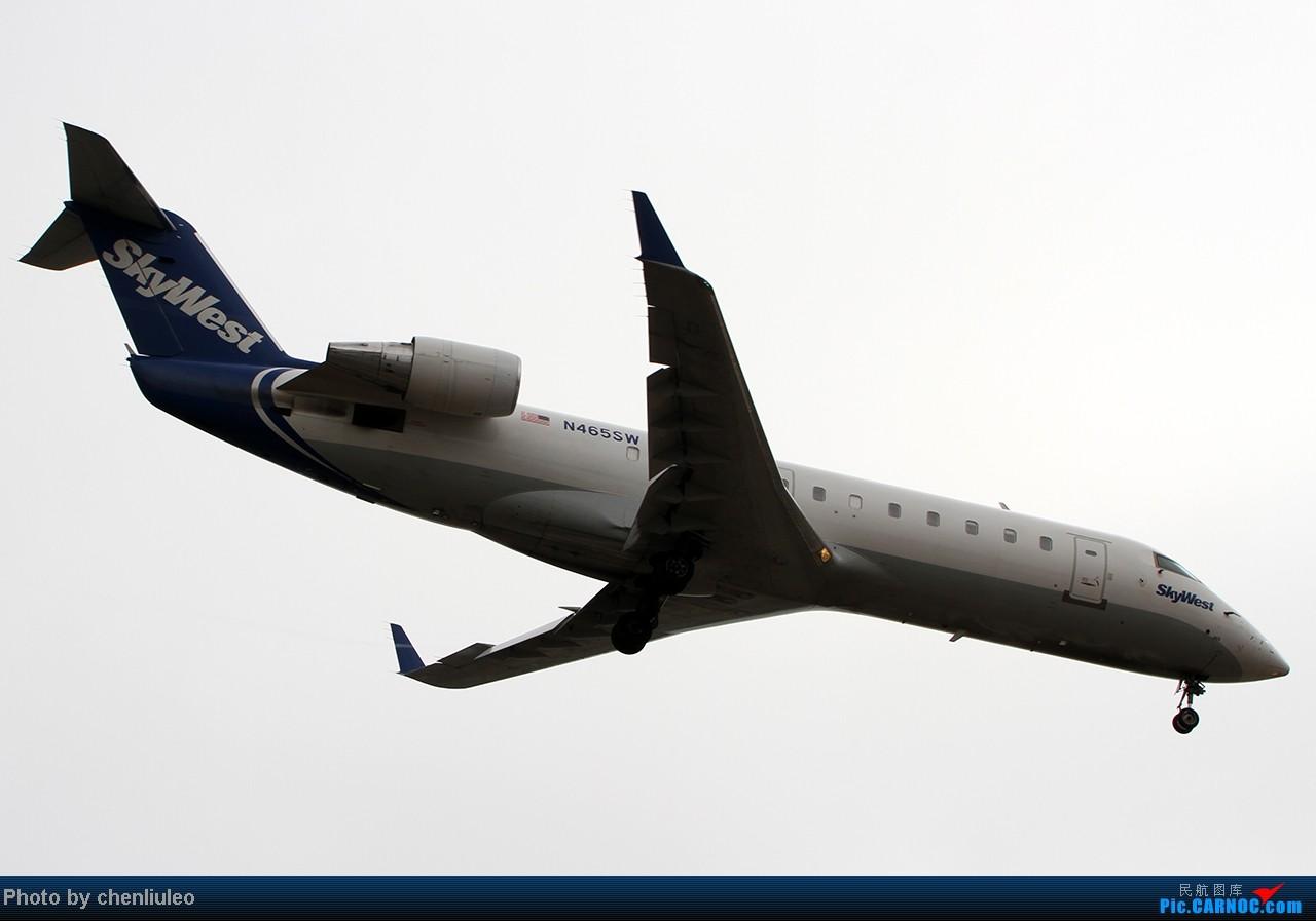 Re:[原创]【杭州飞友会】LAX拍机。阴天。傍晚。逆光。亮点不多。 BOMBARDIER (CANADAIR) CRJ-200ER N465SW 美国洛杉矶机场