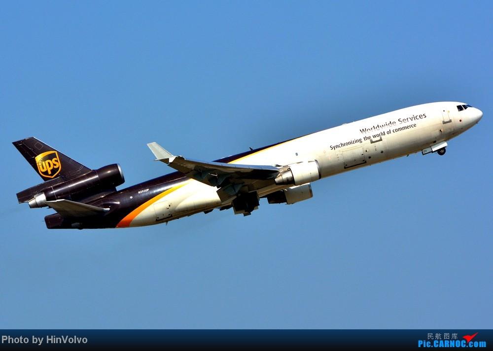 Re:[原创]Re:[原创]~~~~多圖系列~~~~雨後兩天在港龍橋拍機,內有新香港精神號和送兩張維修區07R降落角度! MCDONNELL DOUGLAS MD-11 N292UP 中国香港赤鱲角机场