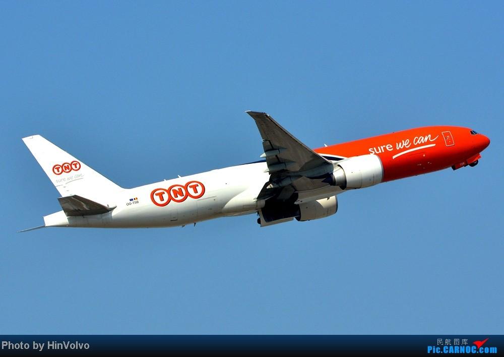Re:[原创]Re:[原创]~~~~多圖系列~~~~雨後兩天在港龍橋拍機,內有新香港精神號和送兩張維修區07R降落角度! BOEING 777-200 OO-TSB 中国香港赤鱲角机场