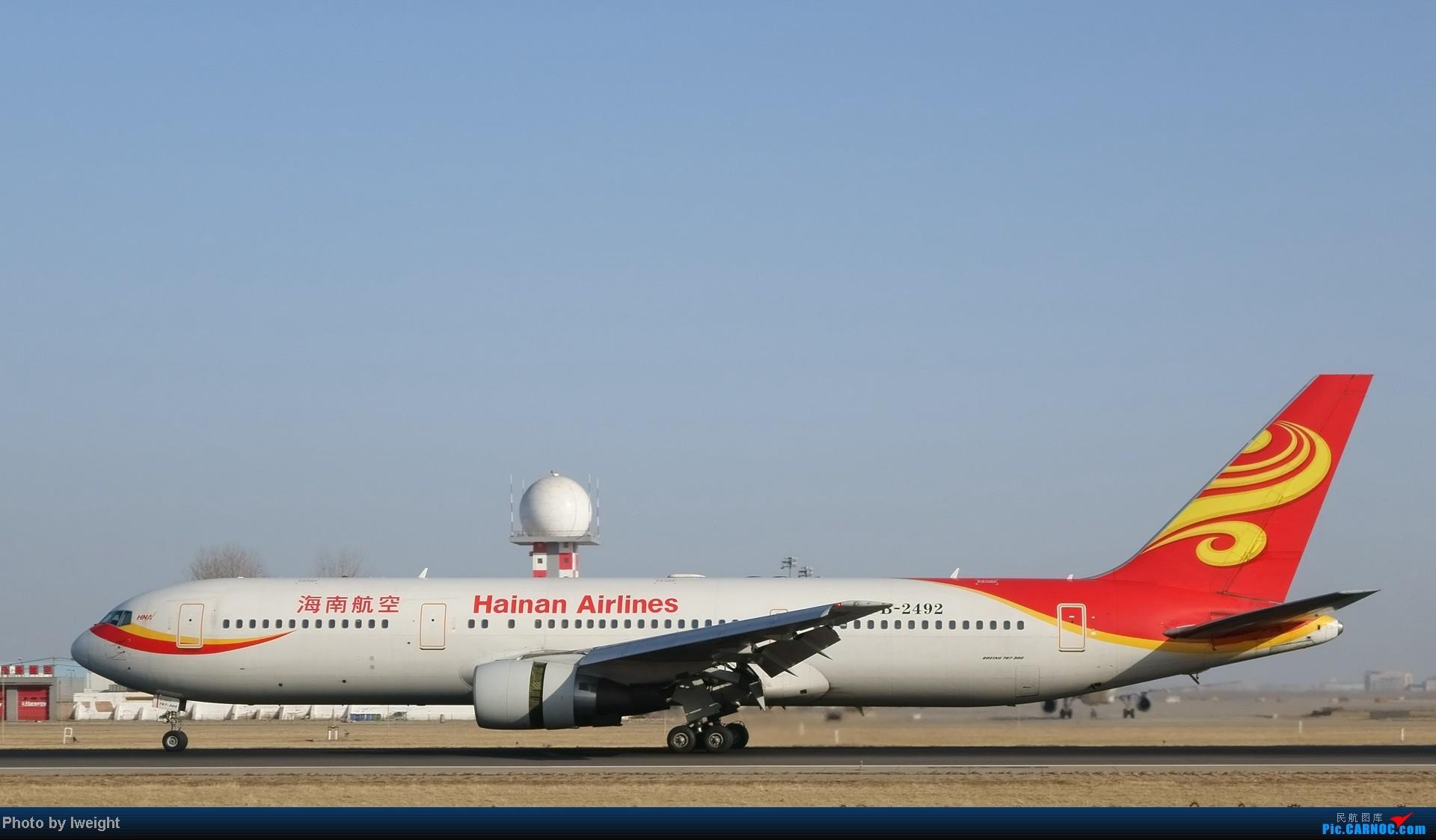 [原创]2014的第一天 BOEING 767-300 B-2492 中国北京首都机场