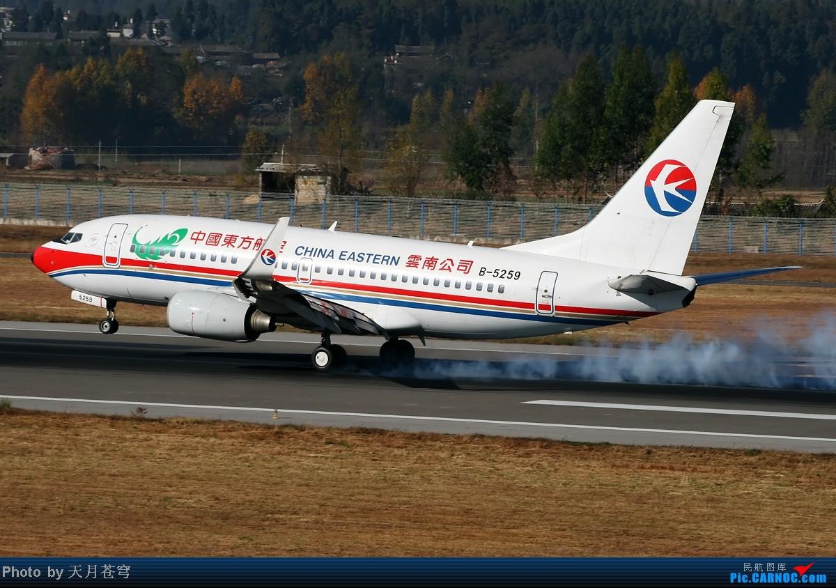 Re:[原创]【KMG】好天气不能拍飞机,鬼火绿啊鬼火绿 BOEING 737-700 B-5259 中国丽江三义机场