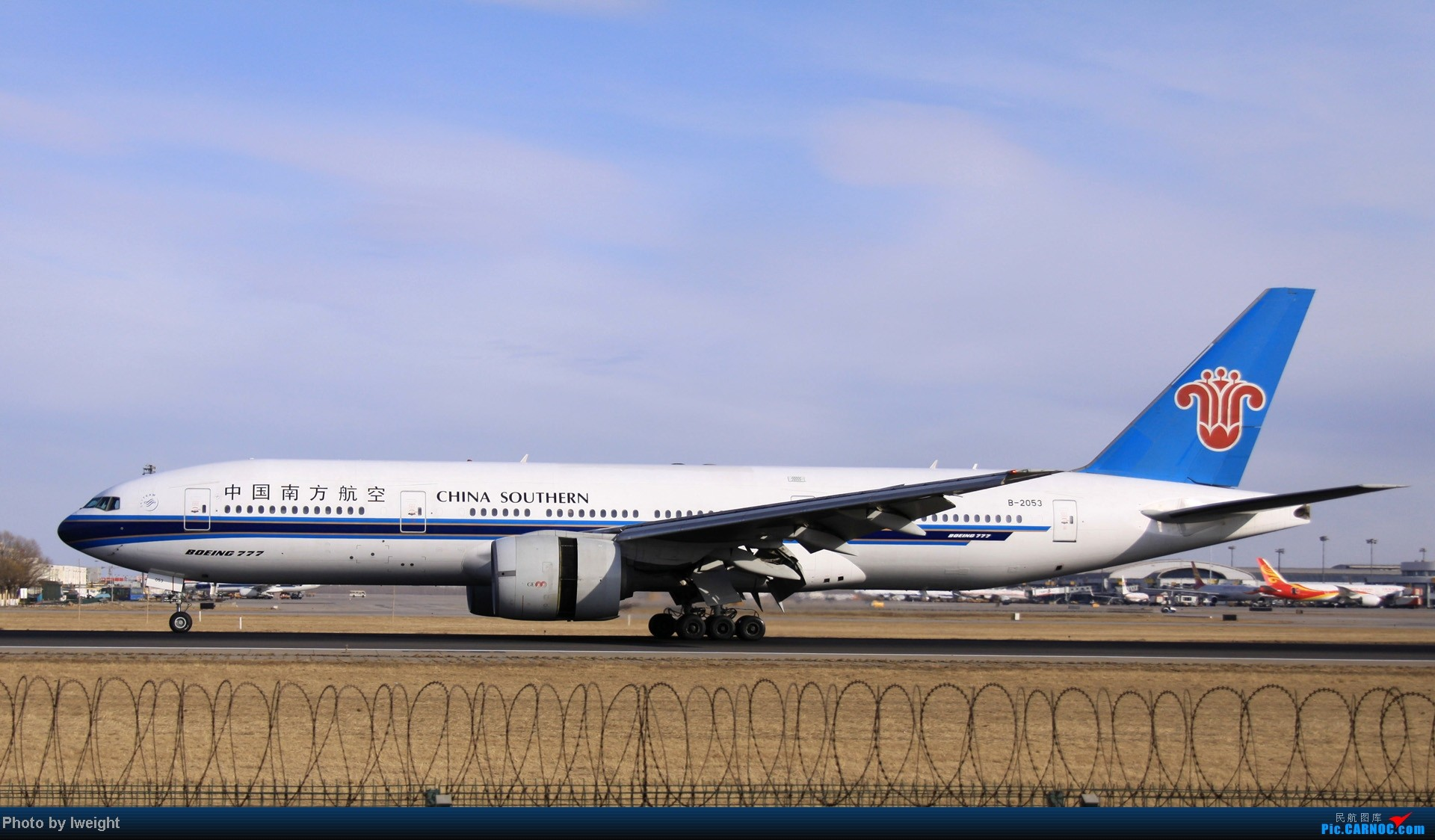 Re:[原创]今天下午瞎拍两个小时的杂图 BOEING 777-200 B-2053 中国北京首都机场