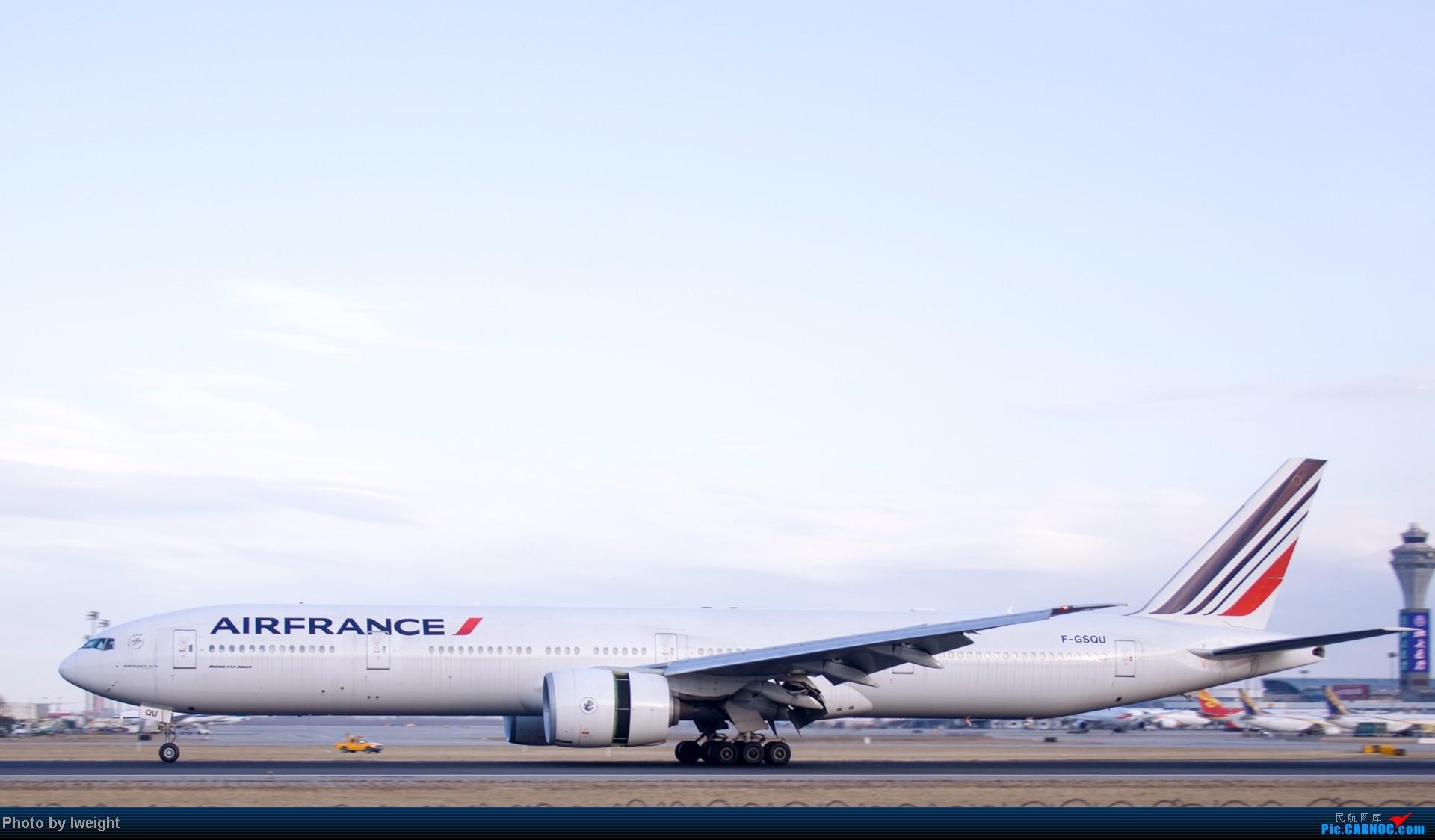 Re:[原创]今天下午瞎拍两个小时的杂图 BOEING 777-300 F-GSQU 中国北京首都机场