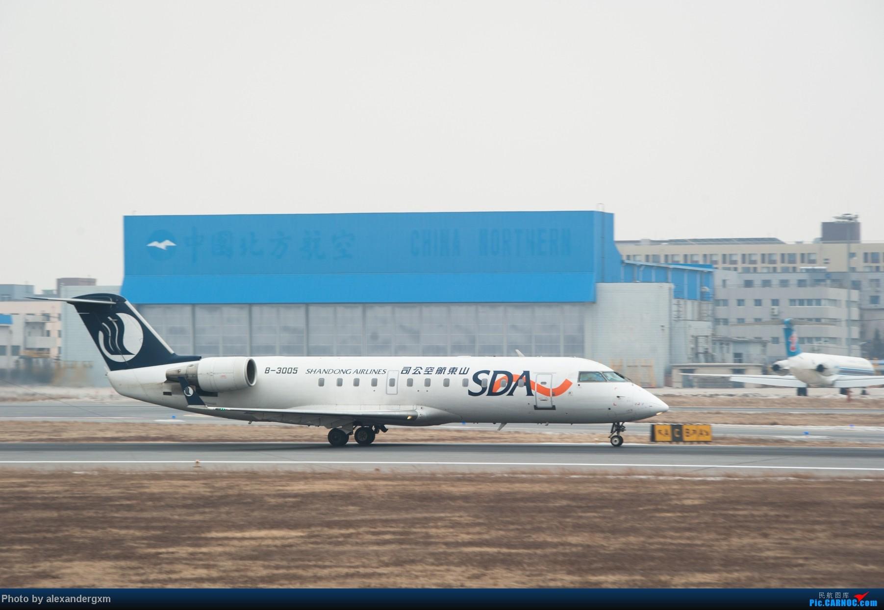 Re:[原创]【SHE】1月27日,桃仙的大灰机和小灰机。 BOMBARDIER (CANADAIR) CRJ-200 B-3005 中国沈阳桃仙机场