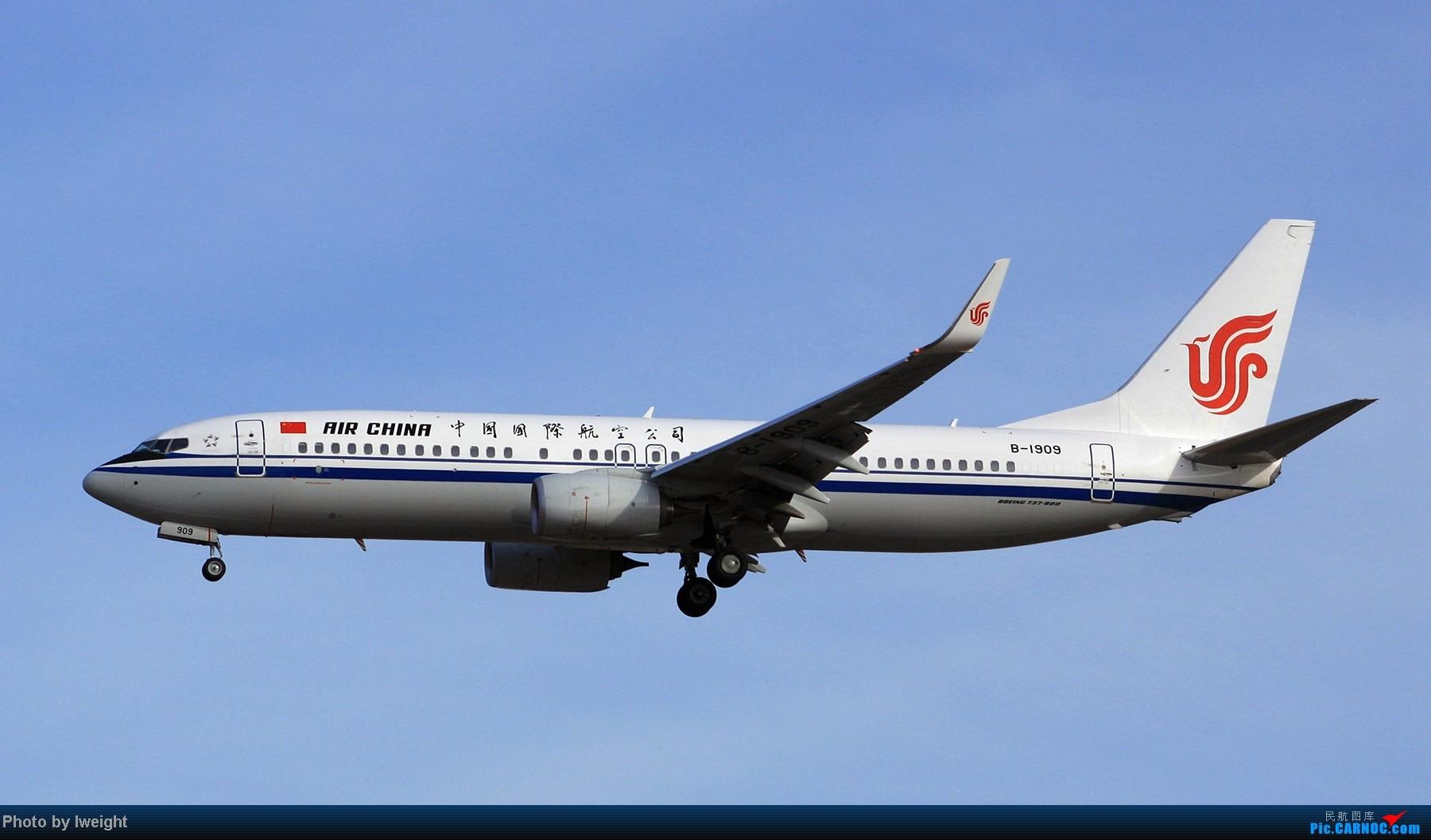 Re:[原创]春节期间首都机场拍机汇报 BOEING 737-800 B-1909 中国北京首都机场