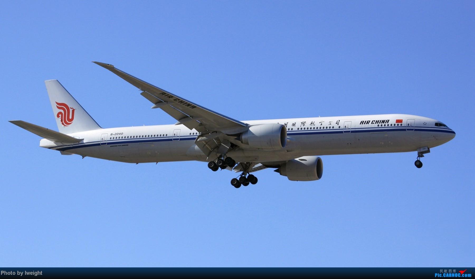 Re:[原创]春节期间首都机场拍机汇报 BOEING 777-300 B-2040 中国北京首都机场