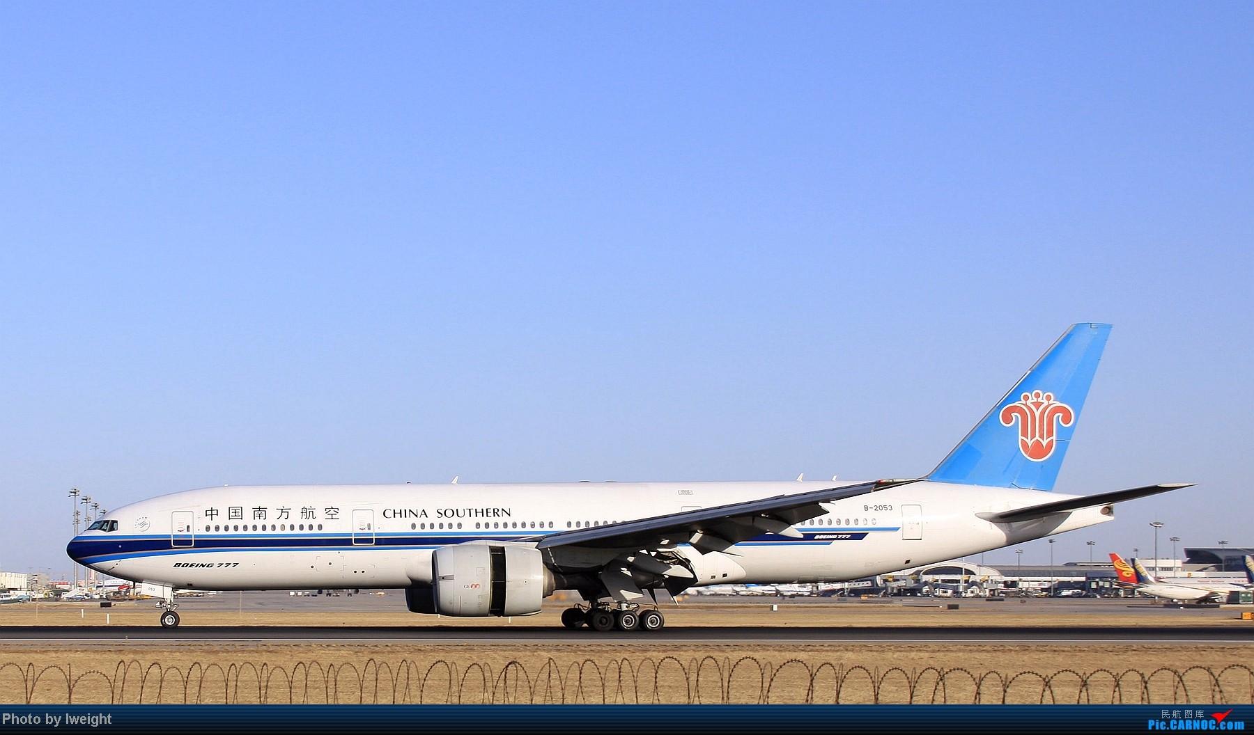 Re:[原创]春节期间首都机场拍机汇报 BOEING 777-200 B-2053 中国北京首都机场