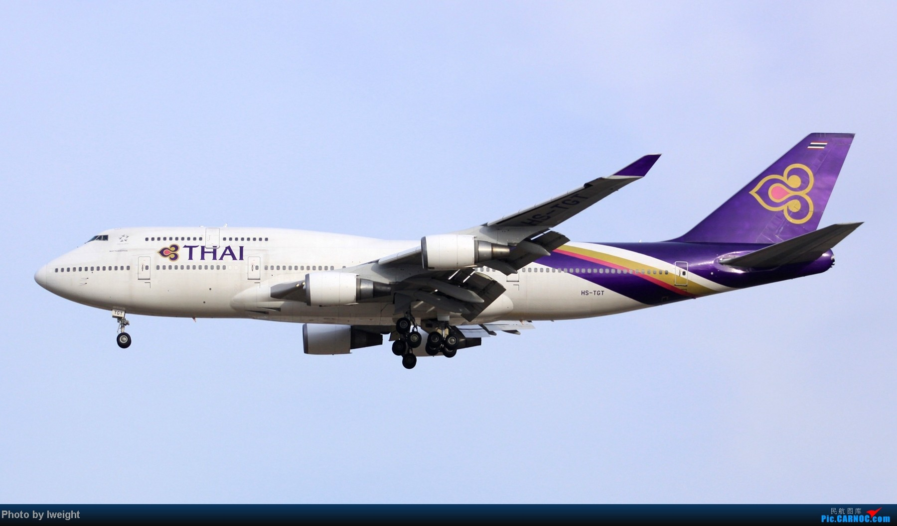 Re:[原创]春节期间首都机场拍机汇报 BOEING 747-400 HS-TGT 中国北京首都机场