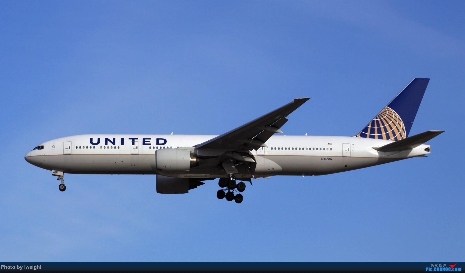 Re:[原创]春节期间首都机场拍机汇报 BOEING 777-200 N217UA 中国北京首都机场