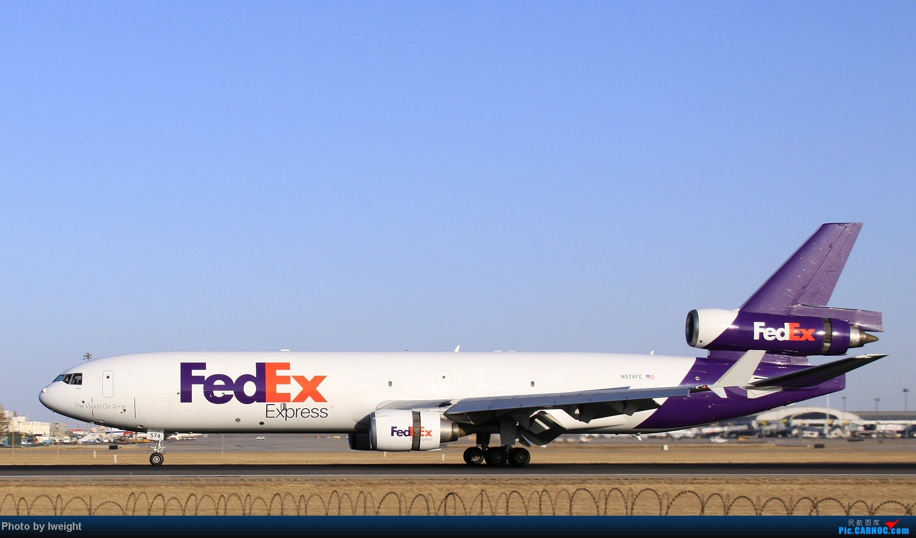 Re:[原创]春节期间首都机场拍机汇报 MCDONNELL DOUGLAS MD-11 N574FE 中国北京首都机场