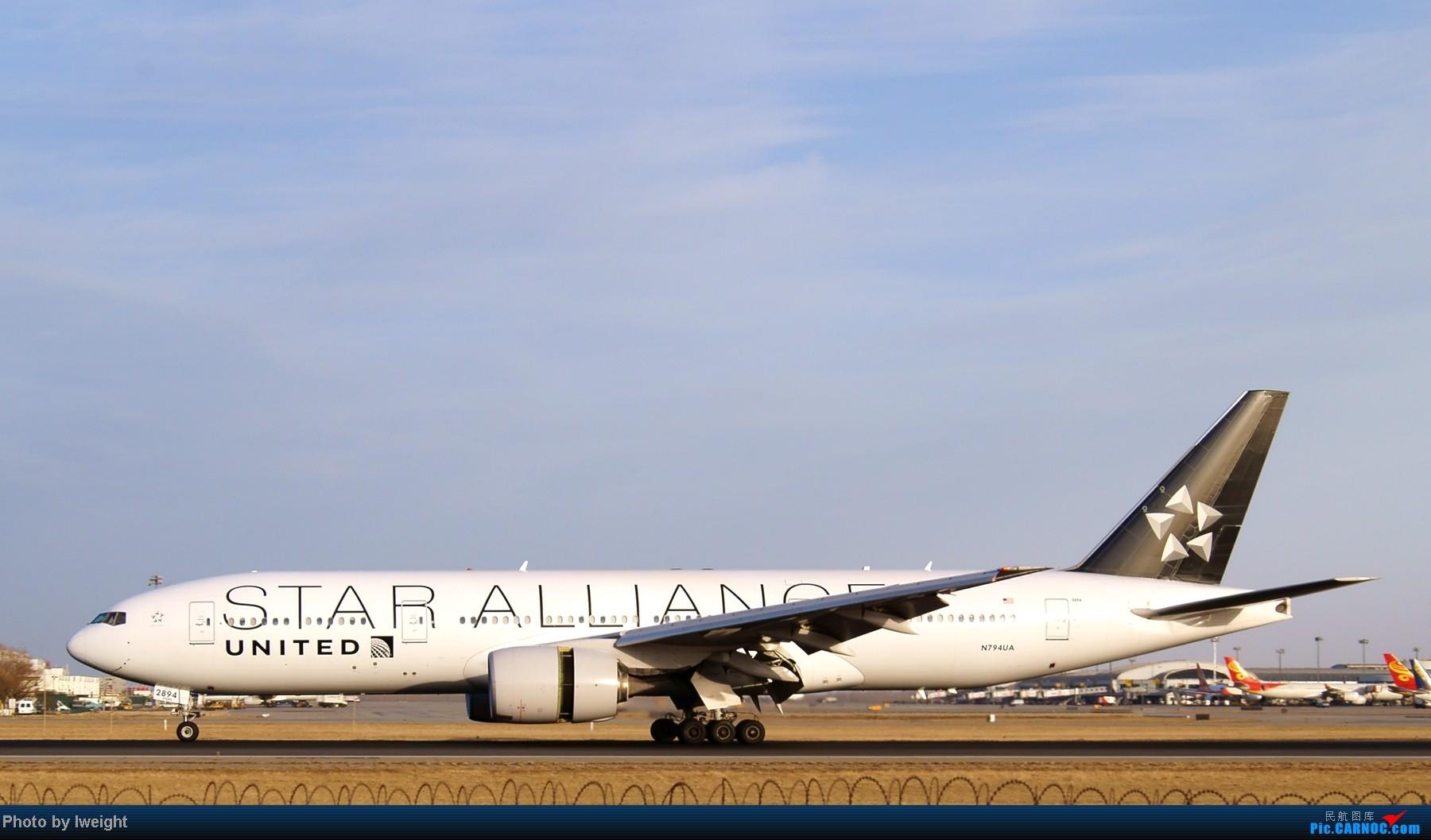Re:[原创]春节期间首都机场拍机汇报 BOEING 777-200 N794UA 中国北京首都机场