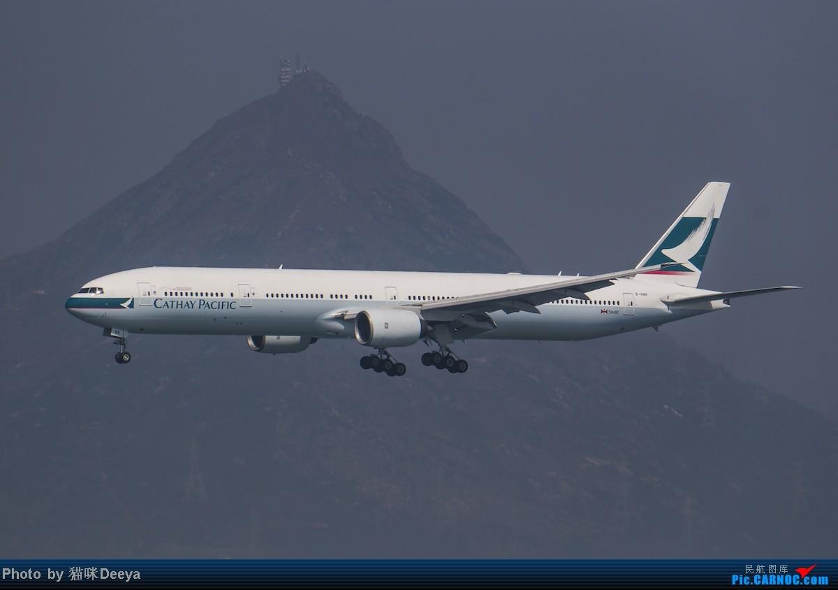 Re:【七彩天空】大年初一香港赤鱲角机场拍机,我的春节收获,果然女飞友在香港还是显眼的 BOEING 777-300 B-HNK 中国香港赤鱲角机场