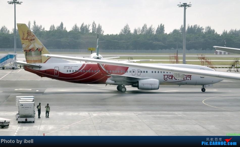 Re:[原创]【牙刷游记之七】SIN-HKG-CTU,国泰+港龙带我回国与家人共度2014马年春节!(有奖猜飞机,祝飞友们马到功成!) BOEING 737-8HG VT-AYD 新加坡樟宜机场