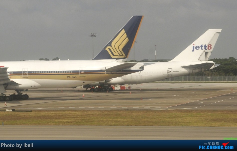 Re:[原创]【牙刷游记之七】SIN-HKG-CTU,国泰+港龙带我回国与家人共度2014马年春节!(有奖猜飞机,祝飞友们马到功成!) BOEING 747F N2795G 新加坡樟宜机场