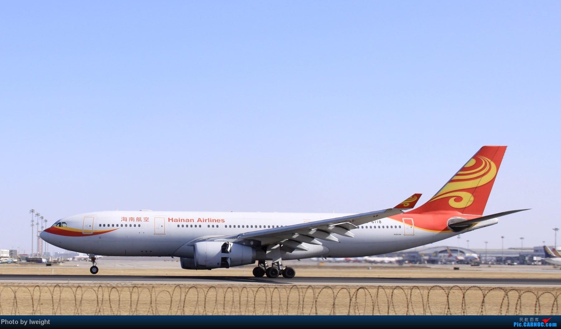 Re:[原创]春节期间首都机场拍机汇报 AIRBUS A330-200 B-6118 中国北京首都机场