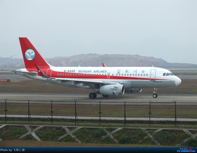 Re:[原创]CKG春运第四辑之精彩的CKG(红蓝凤凰,天合装777,紫宸号,海航二十周年737,共计16班宽体齐聚重庆) AIRBUS A319 B-6449 重庆江北国际机场
