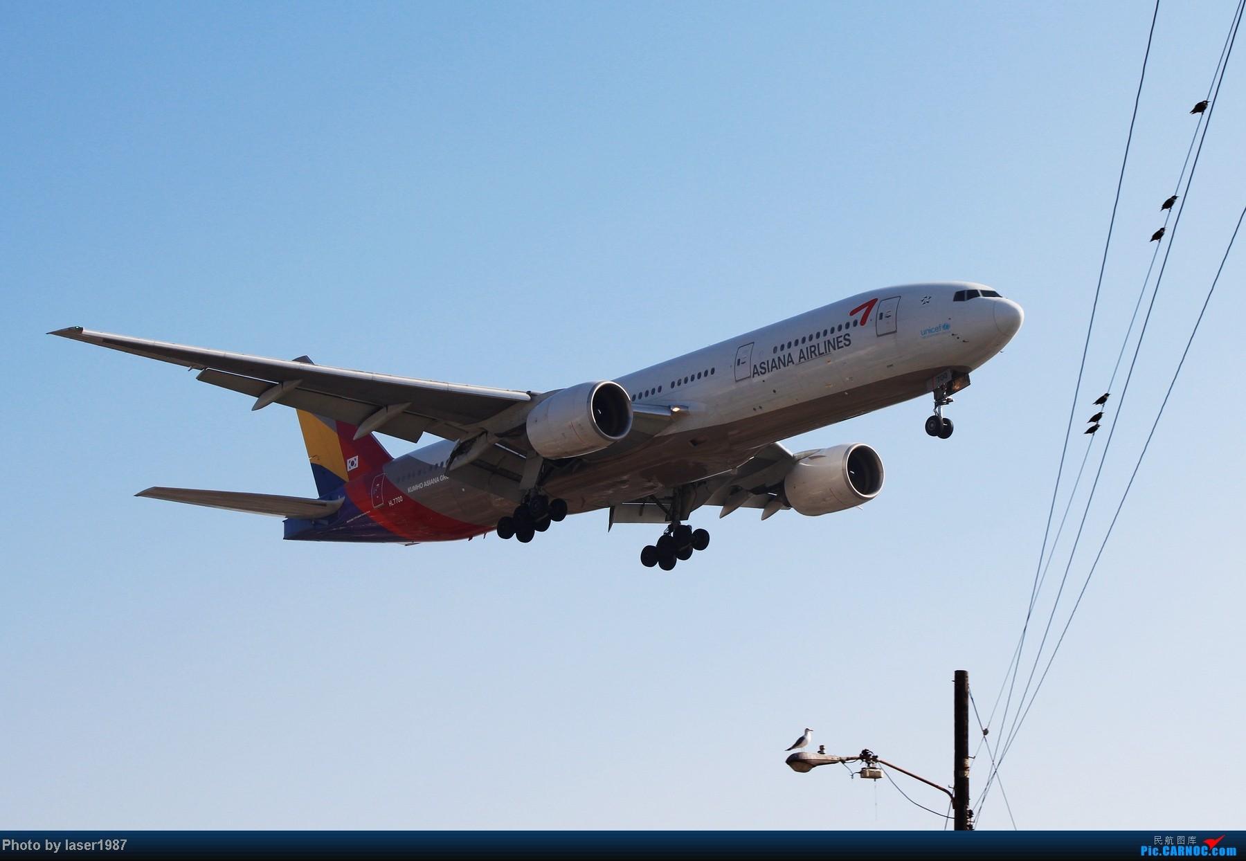 Re:[原创]2011.12.25 LAX 24R跑道东侧停车场拍飞机 BOEING 777-200ER HL7700 美国洛杉矶机场