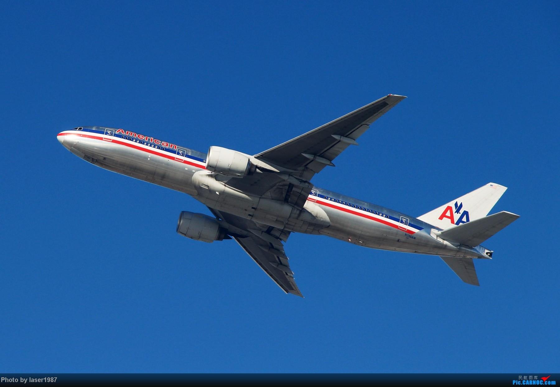 Re:[原创]2011.12.25 LAX 24R跑道东侧停车场拍飞机 BOEING 777-200ER N756AM 美国洛杉矶机场