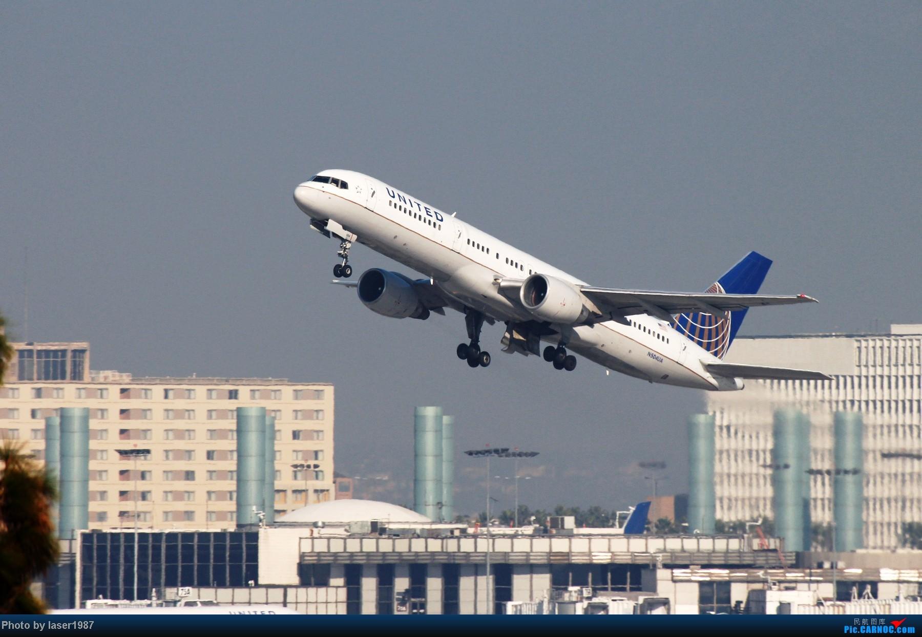 Re:[原创]洛杉矶国际机场拍飞机,更新2014.01.01图片 BOEING 757-200 N504UA 美国洛杉矶机场