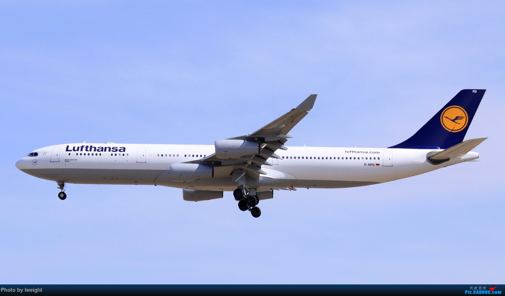 Re:3月7日拍的几张烂图 AIRBUS A340-300 D-AIFD 中国北京首都机场