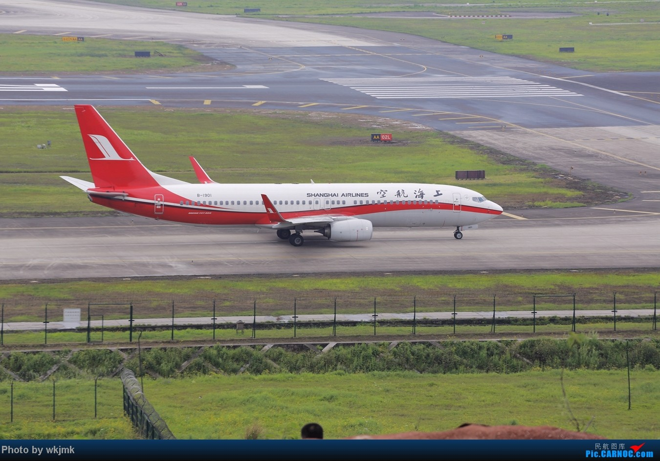Re:[原创]在CKG拍机发现一个不明的航空公司 BOEING 737-800 B-1901 中国重庆江北机场