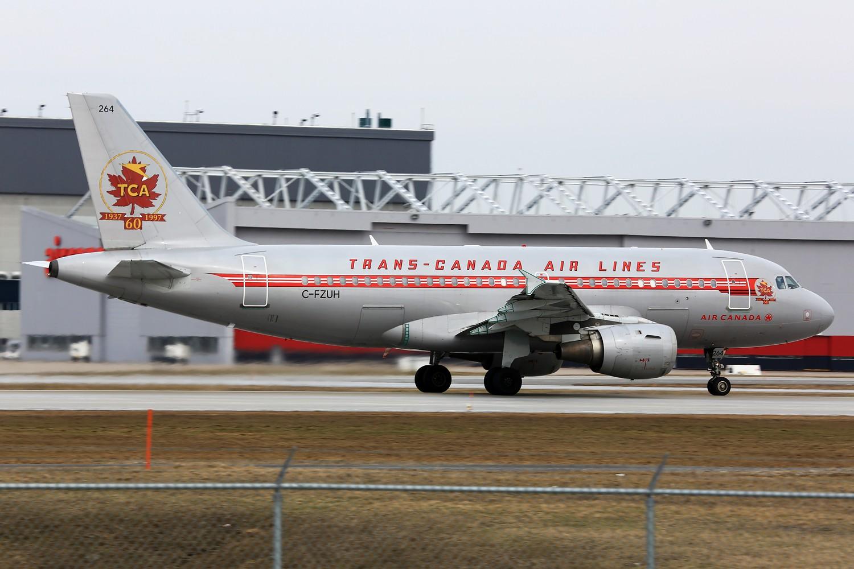 "Re:[原创]【YUL】**********机龄34.6年的古董飞机:B737-200,另Jacques-de-Lesseps观景公园看""公务机展""********** AIRBUS A319-114 C-FZUH 加拿大蒙特利尔特鲁多机场"