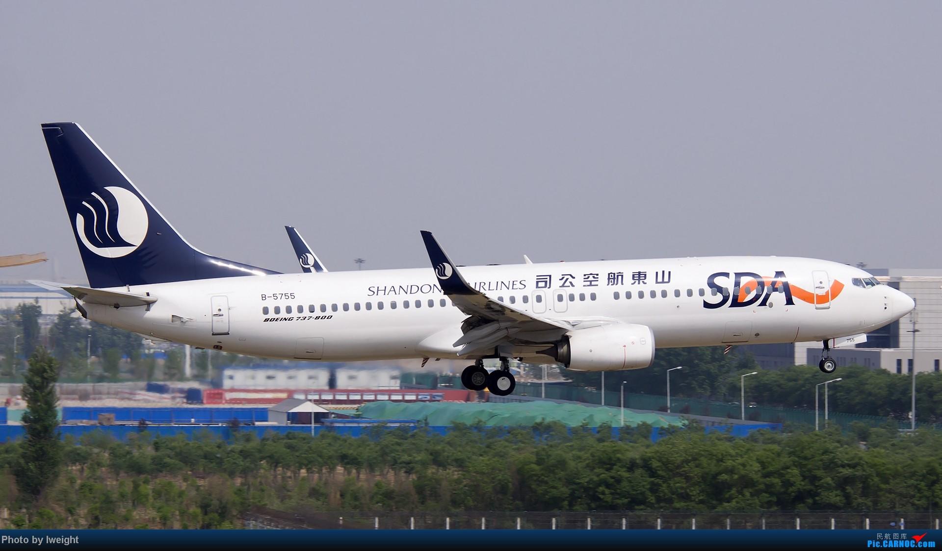 Re:[原创]错过了卡航的巴塞罗那号,只有这些大路货了,泪奔啊 BOEING 737-800 B-5755 中国北京首都机场