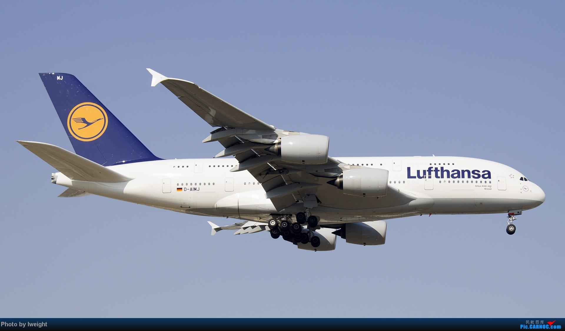 Re:[原创]北京难得的好天气,收获多种机型和彩绘,遗憾的是再次错过卡航巴塞罗那彩绘 AIRBUS A380 D-AIMJ 中国北京首都机场