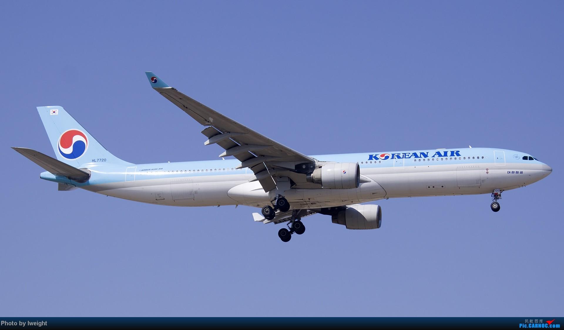 Re:[原创]北京难得的好天气,收获多种机型和彩绘,遗憾的是再次错过卡航巴塞罗那彩绘 AIRBUS A330-300 HL7720 中国北京首都机场