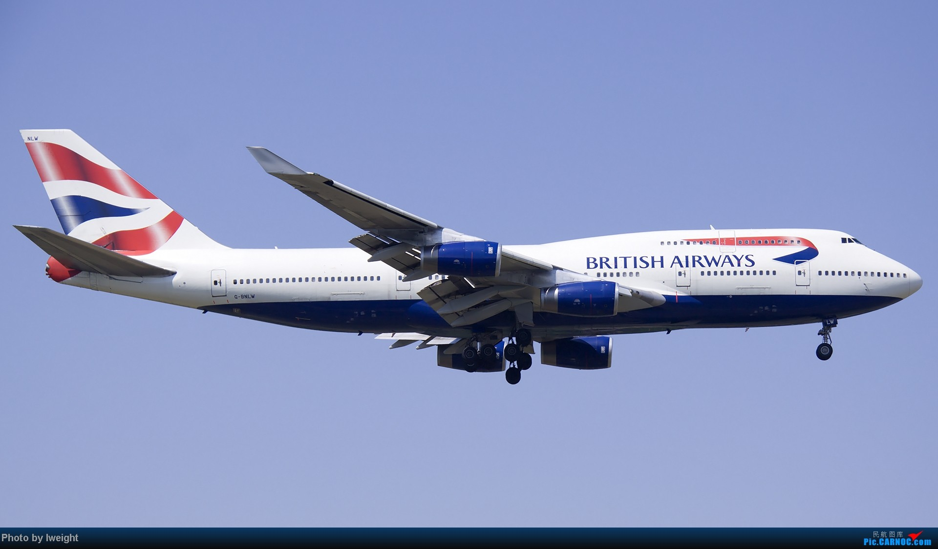 Re:[原创]北京难得的好天气,收获多种机型和彩绘,遗憾的是再次错过卡航巴塞罗那彩绘 BOEING 747-400 G-BNLW 中国北京首都机场