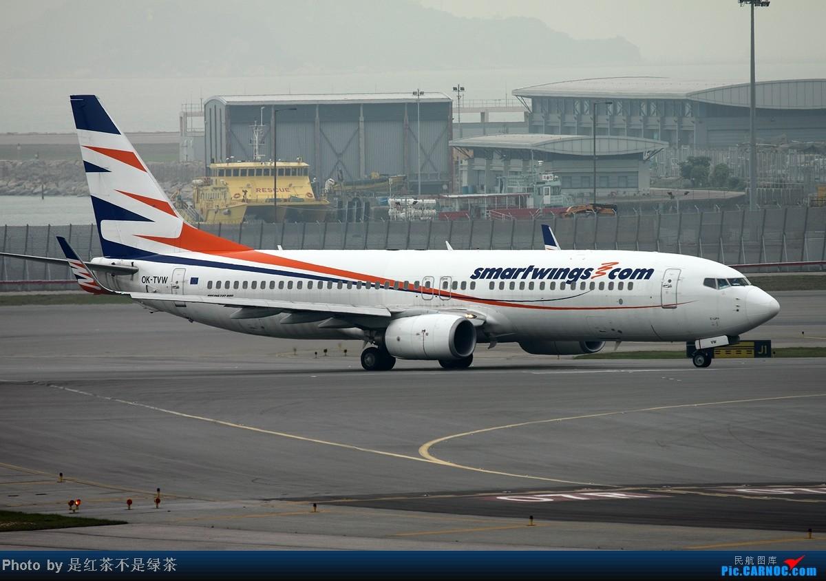 [原创]【红茶拍机】五一香港拍机行,天很烂,好货很多! BOEING 737-800 OK-TVW 中国香港赤鱲角机场