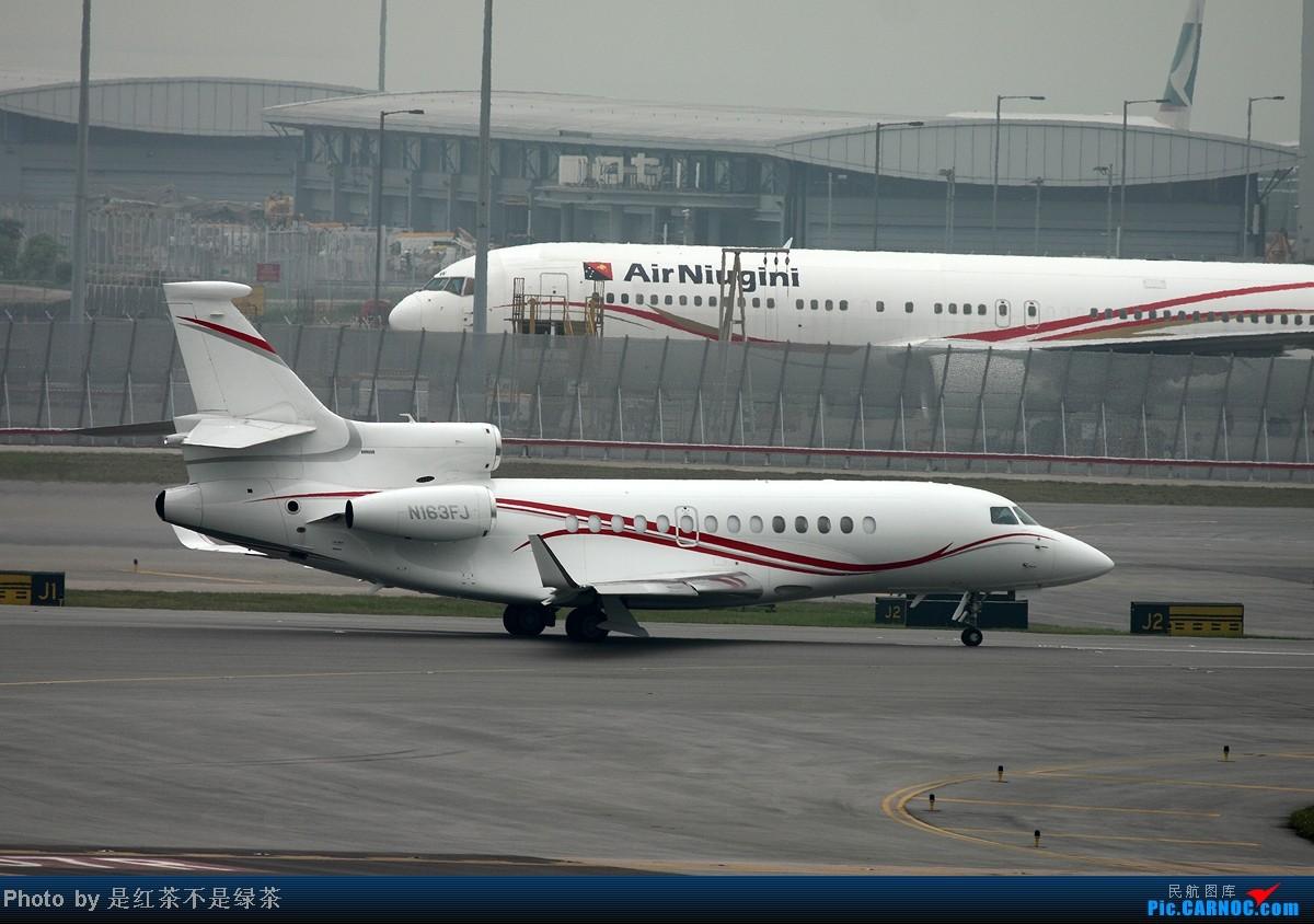 Re:[原创]【红茶拍机】五一香港拍机行,天很烂,好货很多!  N163FJ 中国香港赤鱲角机场