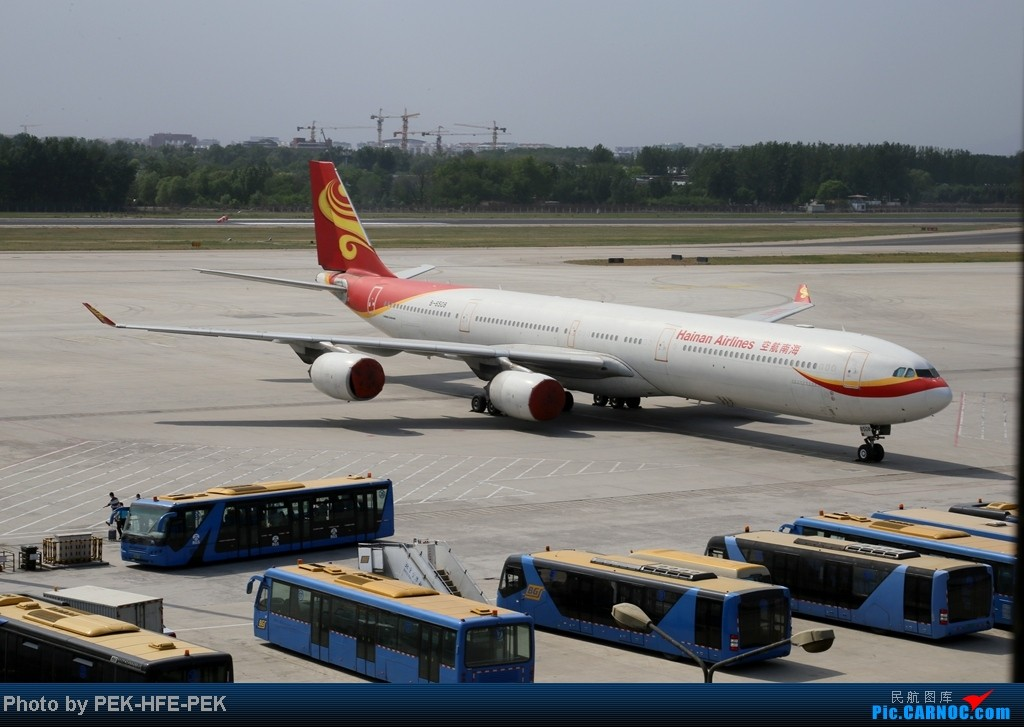 Re:[原创][AutumnKwok]5.1最后一天依然机场走一趟,连续四天去机场~成龙私人机近照,棒子图204 AIRBUS A340-600 B-6508 PEK