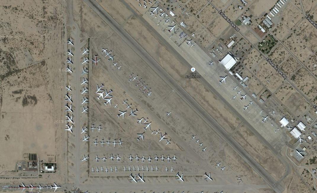 看看米國的飛機場(壯觀呀)