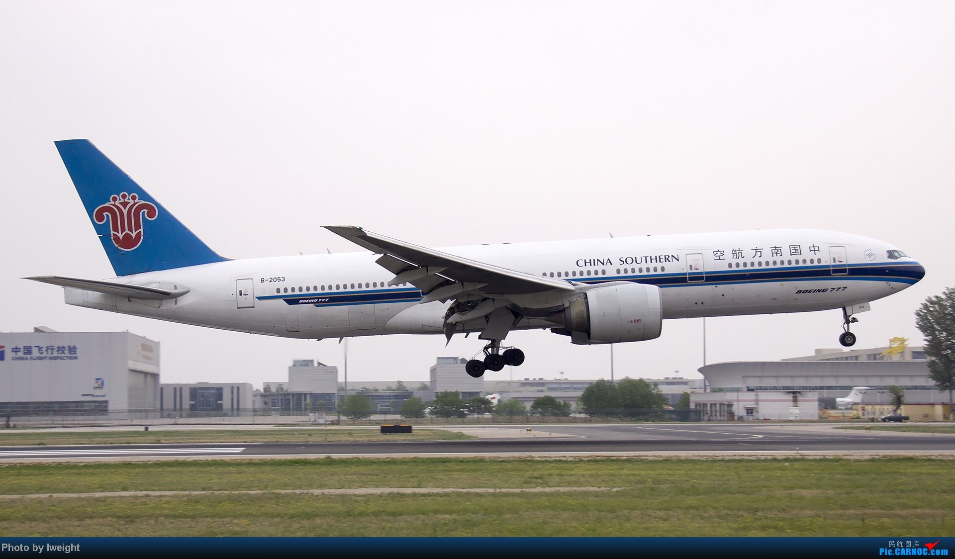 Re:[原创]5月3日首都机场风云变幻的下午 BOEING 777-200 B-2053 中国北京首都机场