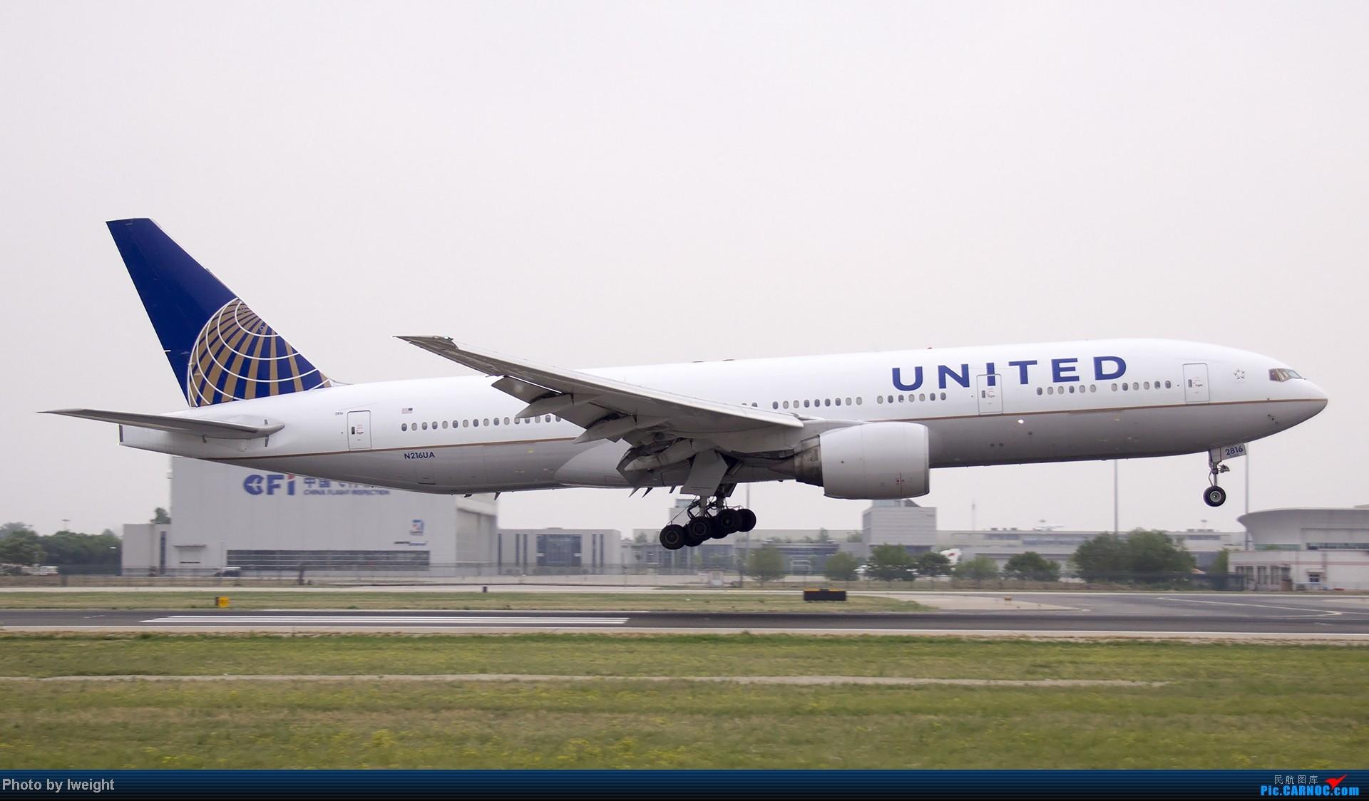 Re:[原创]5月3日首都机场风云变幻的下午 BOEING 777-200 N216UA 中国北京首都机场