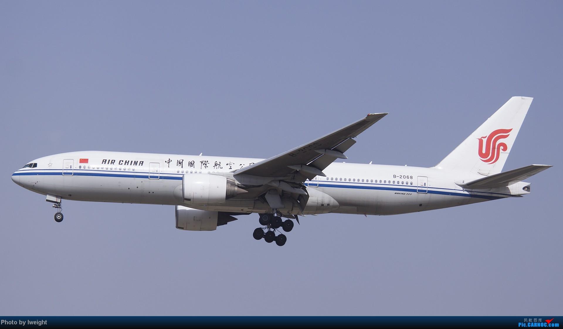 Re:[原创]5月3日首都机场风云变幻的下午 BOEING 777-200 B-2068 中国北京首都机场