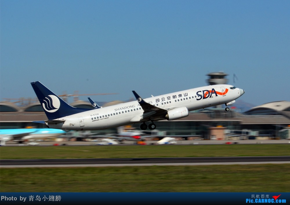 Re:[原创]华航几米彩绘和青岛航空 BOEING 737-800 B-5726 中国青岛流亭机场