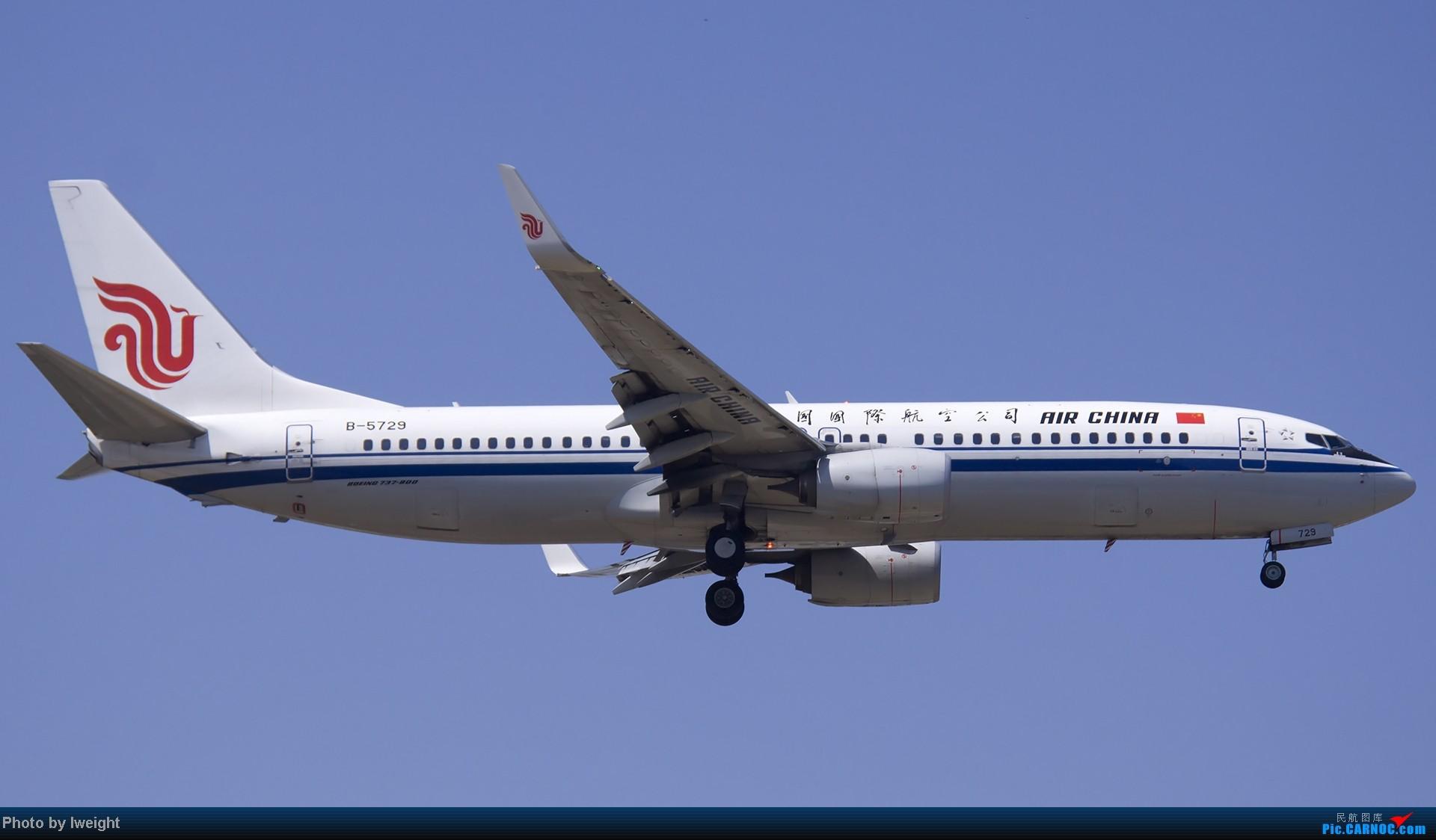 Re:[原创]5月12日PEK好天从01→19→18R BOEING 737-800 B-5729 中国北京首都机场