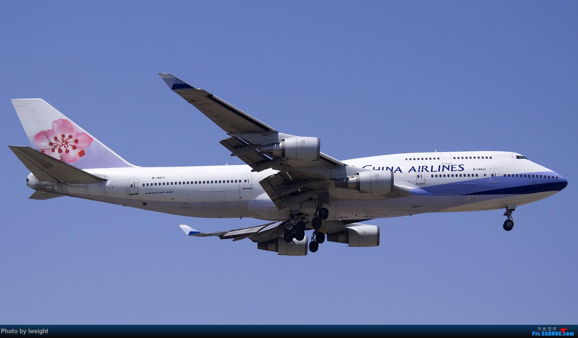 Re:[原创]5月12日PEK好天从01→19→18R BOEING 747-400 B-18211 中国北京首都机场