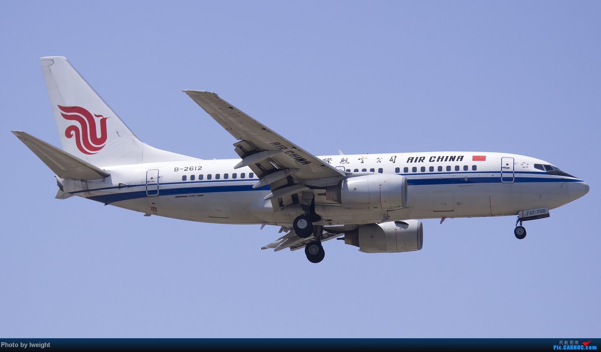 Re:[原创]5月12日PEK好天从01→19→18R BOEING 737-700 B-2612 中国北京首都机场