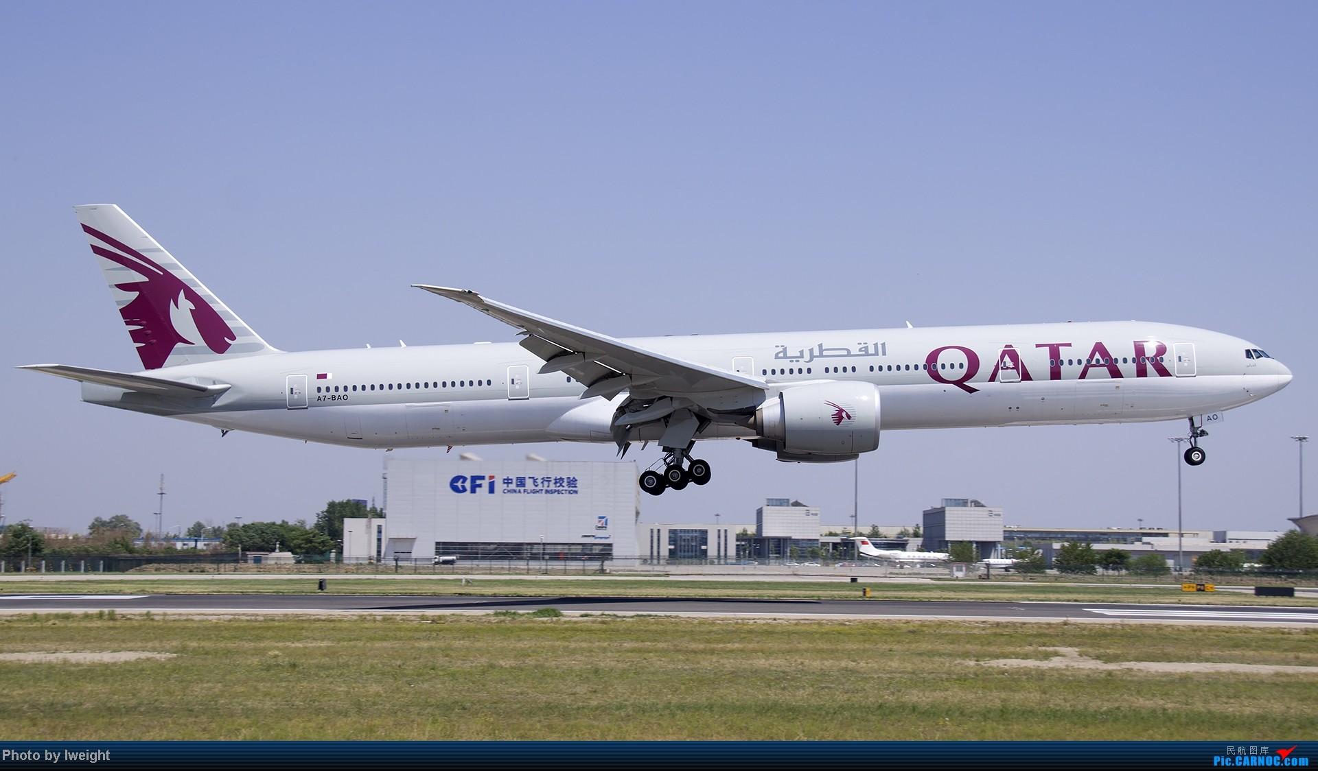 Re:[原创]5月12日PEK好天从01→19→18R BOEING 777-300 A7-BAO 中国北京首都机场