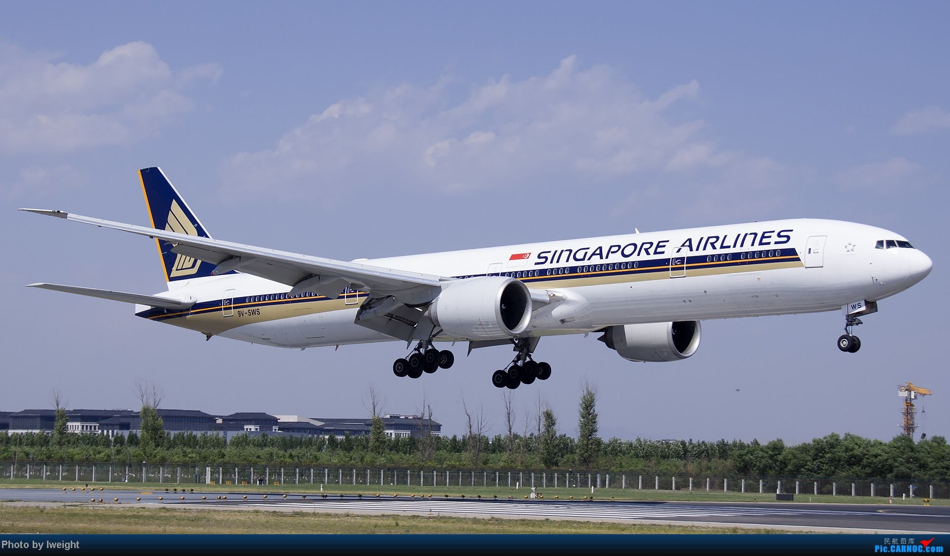 Re:[原创]5月12日PEK好天从01→19→18R BOEING 777-300 9V-SWS 中国北京首都机场
