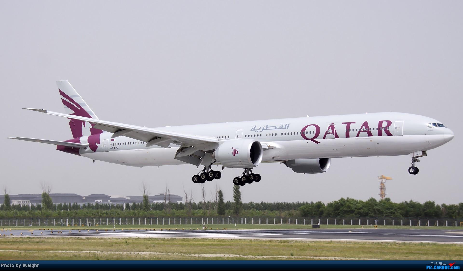 Re:[原创]霾天首都机场随拍 BOEING 777-300ER A7-BAJ 中国北京首都机场
