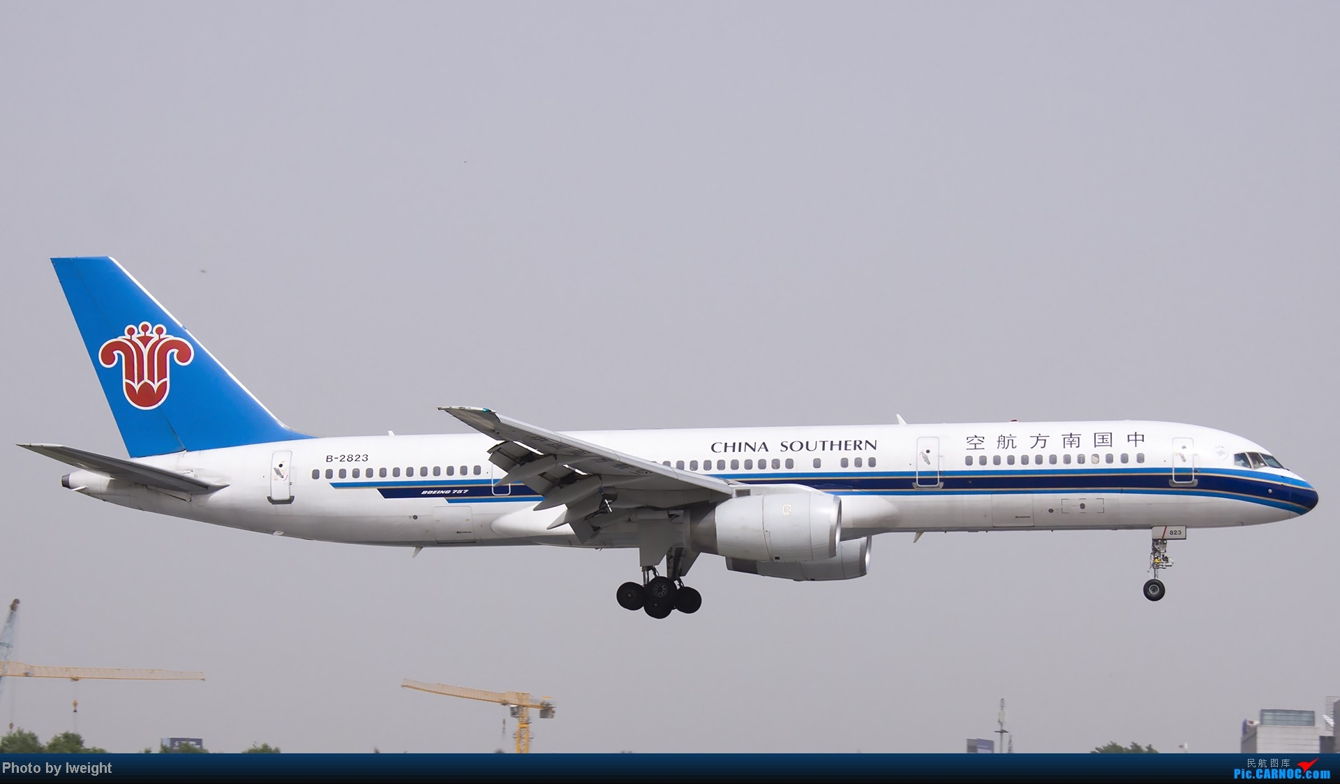 Re:[原创]霾天首都机场随拍 BOEING 757-200 B-2823 中国北京首都机场