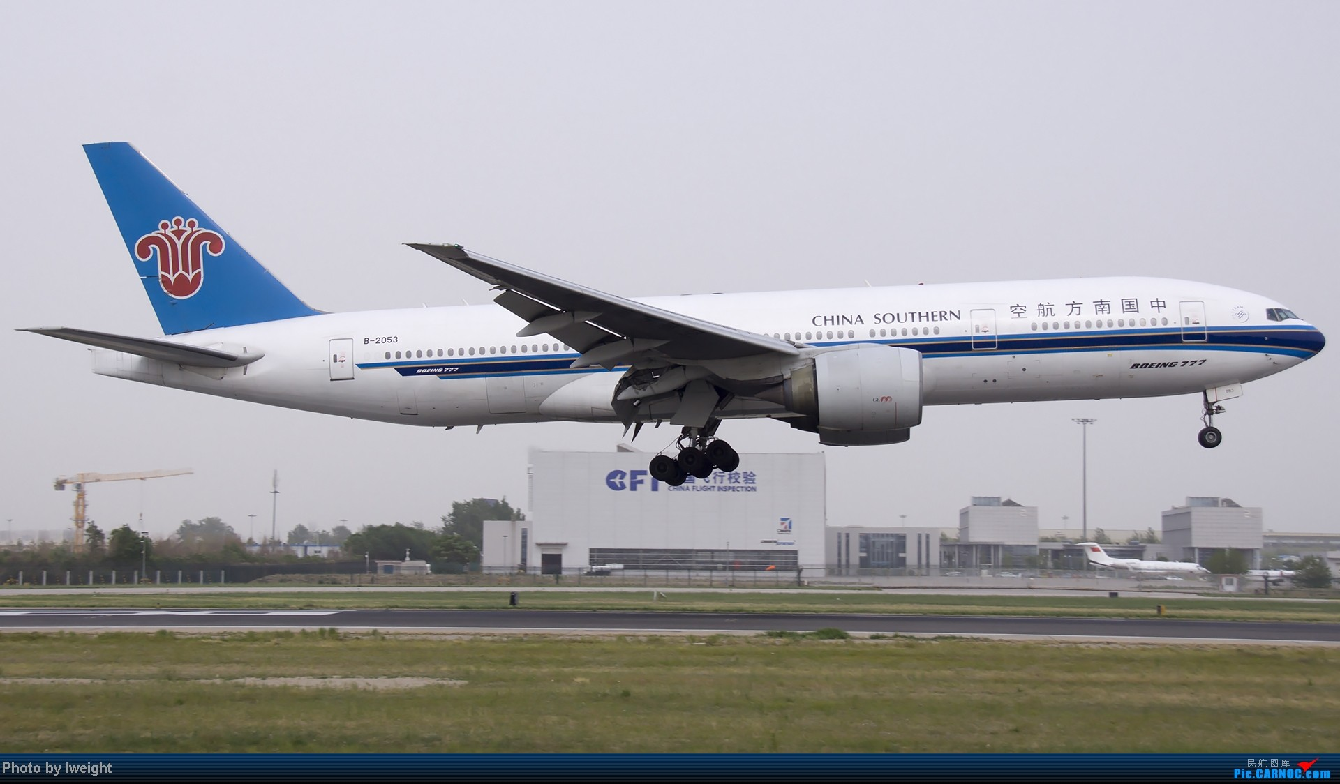 Re:[原创]霾天首都机场随拍 BOEING 777-200 B-2053 中国北京首都机场