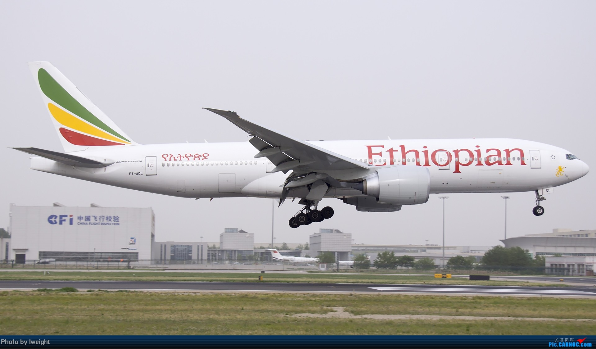 Re:[原创]霾天首都机场随拍 BOEING 777-200LR ET-AQL 中国北京首都机场