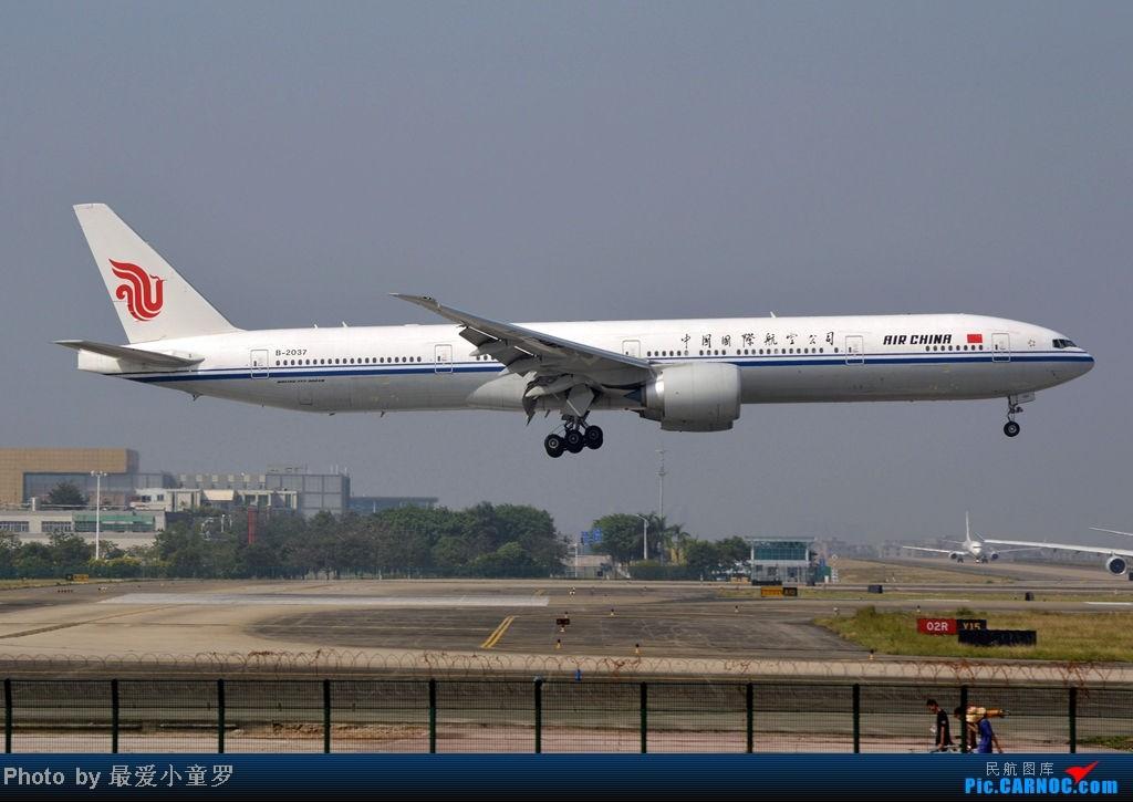 Re:[原创]炒冷饭之最后一次在CAN三炮工地拍机 BOEING 777-300 B-2037 中国广州白云机场