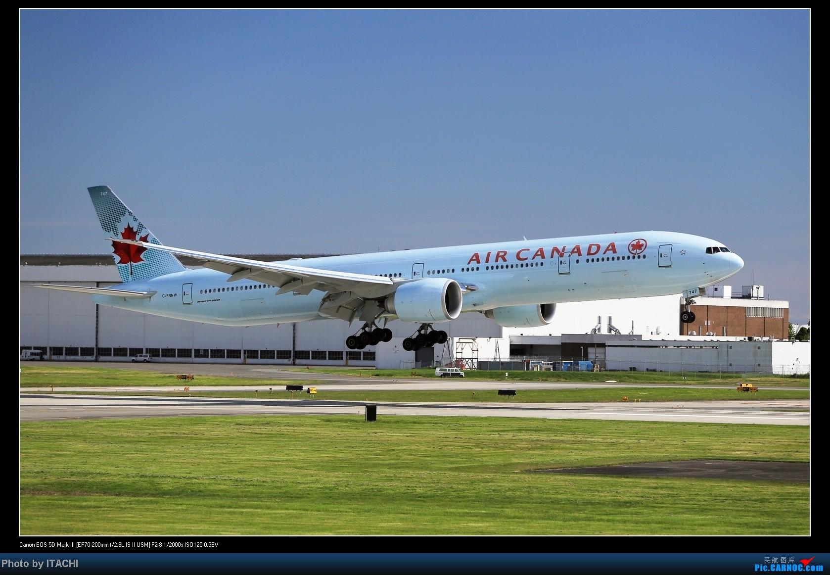 [原创]好久没来,只有一张加航773 BOEING 777-300  加拿大温哥华机场