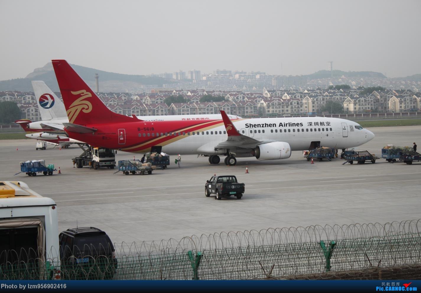 Re:[原创]DLC蹲点大半天,拍到了大棒航空772=w= BOEING 737-800 B-5618 中国大连周水子机场